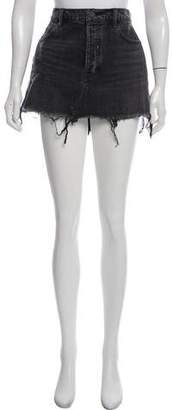 Alexander Wang Denim x Denim Mini Skirt w/ Tags