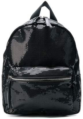 MM6 MAISON MARGIELA double pocket sequin backpack
