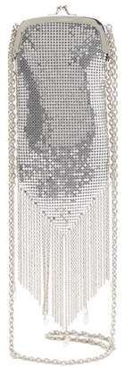 Paco Rabanne Fringed Chainmail Mesh Cross Body Bag - Womens - Silver