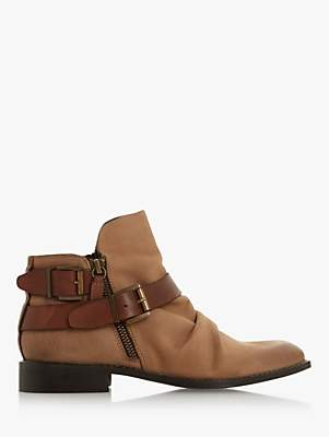 Bertie Ported Ankle Boots, Stone Nubuck
