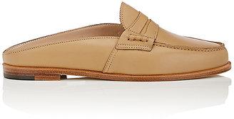 Manolo Blahnik Women's Ellemule Leather Mules $745 thestylecure.com