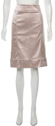 Stella McCartney Knee-Length Satin Skirt w/ Tags