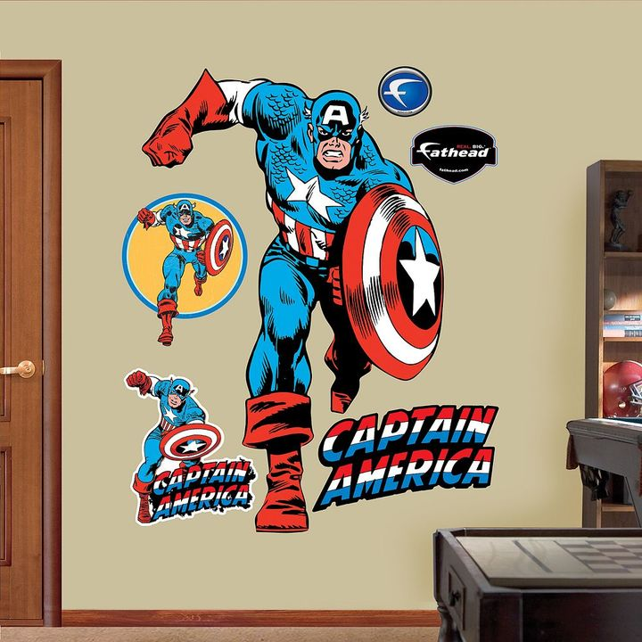 Fathead Captain America Wall Decals by
