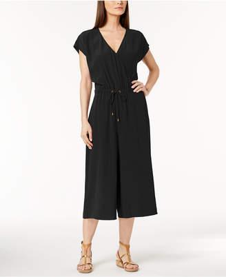 Eileen Fisher Tencel Crepe Cropped Wide-Leg Jumpsuit, Regular & Petite