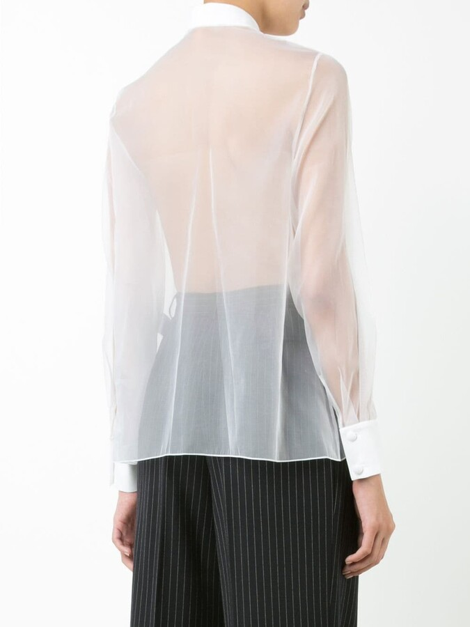 Lanvin sheer blouse