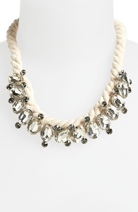 Topshop Rope & Crystal Collar Necklace
