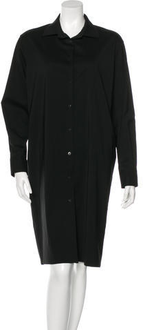 Burberry Burberry Long Sleeve Midi Shirt Dress