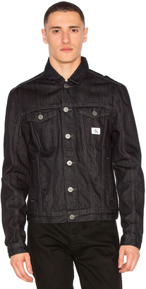 Calvin Klein Washed Denim Jacket $98 thestylecure.com