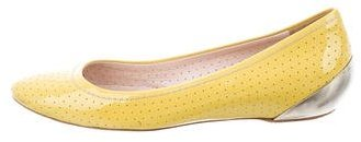 Miu Miu Miu Miu Perforated Round-Toe Flats