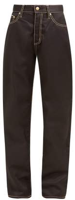 Eytys Cali High Waisted Twill Jeans - Womens - Black
