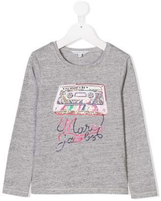 Little Marc Jacobs sequin embellished long sleeve top