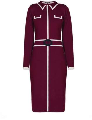Mulberry Rumour London - Claire Knitted Jacquard Dress In