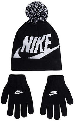 Nike Little Kid's Two-Piece Swoosh Beanie and Glove Set