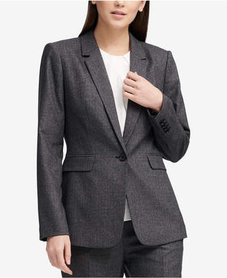 DKNY One-Button Pic-Stitch Jacket, Created for Macy's