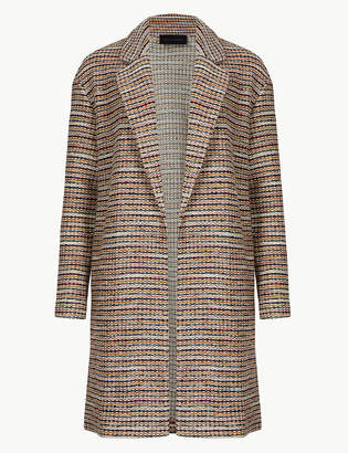 Marks and Spencer PETITE Textured Open Front Coat