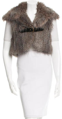 Alice by Temperley Belted Faux-Fur Vest $85 thestylecure.com