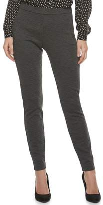 Elle Women's Grid Pull-On Dress Pants