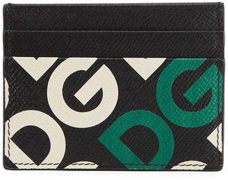 Dolce & Gabbana Men's Logo Maina Leather Card Case