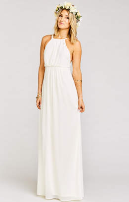 Show Me Your Mumu Amanda Maxi Dress ~ Wedding Cake Chiffon