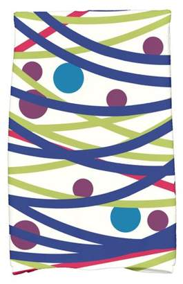 "Simply Daisy 16"" x 25"" Doodle Decorations Geometric Print Hand Towel"
