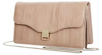 Reiss Olivia Genuine Snakeskin & Leather Shoulder Bag