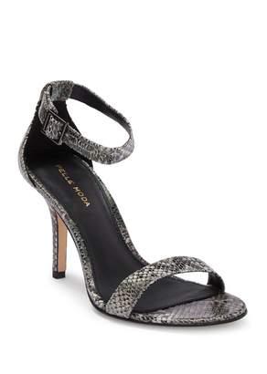 Pelle Moda Kacey Luster Stiletto Heel Snake Embossed Leather Sandal