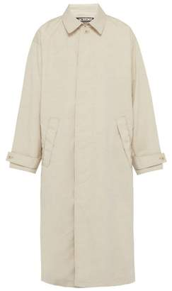 Jacquemus Le Grand Manteau Linen Blend Trench Coat - Mens - Beige