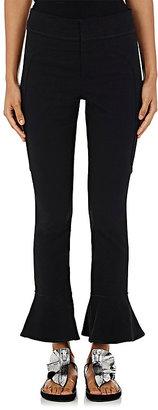 Isabel Marant Women's Hunter Cotton-Blend Flared Ruffle Pants $590 thestylecure.com