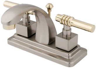 Kingston Brass Milano Centerset Bathroom Sink Faucet with Brass Pop-up