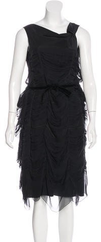 pradaPrada Silk Ruched Dress