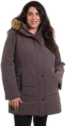 Fleet Street Plus Size Quilted Faux Silk Hooded Jacket