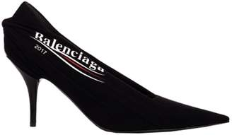 Balenciaga Black Logo Decollete