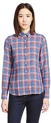 Finamore (フィナモーレ) - (フィナモレ) Finamore ヴィンテージ風チェックシャツ 044150 - ZOE -CLELIA 01 NAVY × RED ネイビー×レッド 40