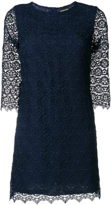 Ermanno Scervino slim-fit scalloped lace dress
