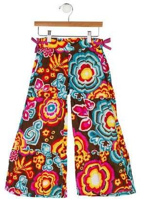 Oilily Girls' Printed Wide-Leg Pants