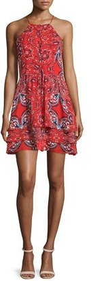 Parker Dax Sleeveless Printed Dress, Flare Bandana $298 thestylecure.com