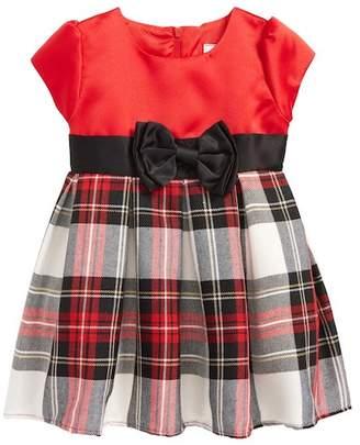 Dorissa Angie Plaid Satin Dress (Baby Girls)
