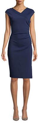 Diane von Furstenberg Ruched Cap-Sleeve Dress