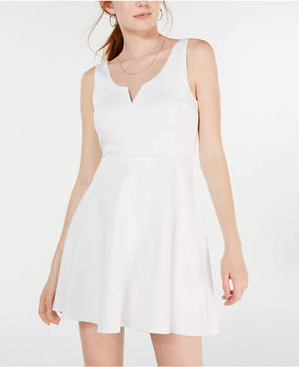 Trixxi Juniors' Scuba Fit & Flare Dress