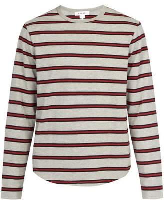 Frame Long Sleeved Cotton T Shirt - Mens - Grey Multi
