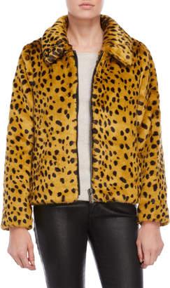 Parka London Leopard Print Faux Fur Jacket