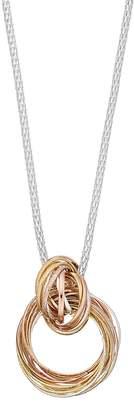 JLO by Jennifer Lopez Interlocked Circle Link Pendant Necklace