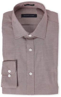 Tommy Hilfiger Crimson Houndstooth Slim Fit Shirt