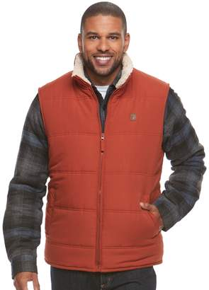 Coleman Men's Sherpa-Lined Microfiber Quilted Vest