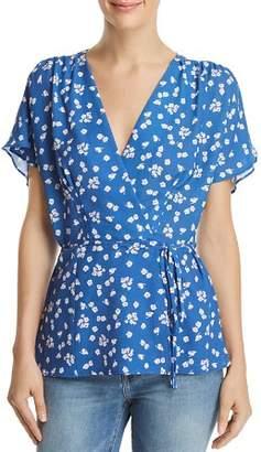 French Connection Frances Verona Floral-Print Wrap Top