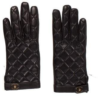 Chanel Quilted CC Gloves