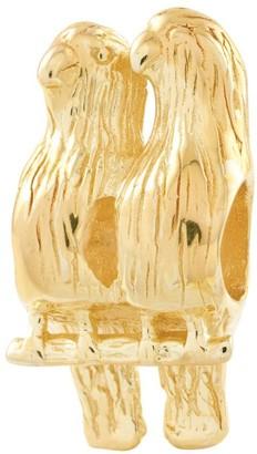 Prerogatives 14K Yellow Gold-Plated Sterling Love Birds Bead