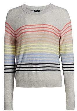 Splendid Women's Daydream Striped Crewneck Pullover