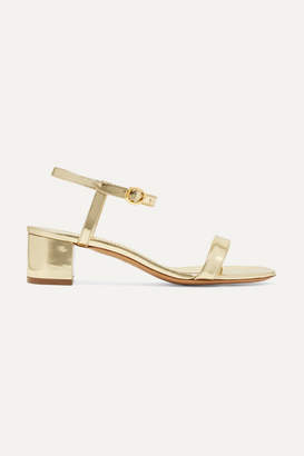 Mansur Gavriel Metallic Leather Sandals - Gold