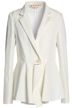 Marni Cotton And Linen-Blend Gabardine Blazer